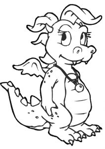 Cassie Dragon Coloring Pages Dragon Tale
