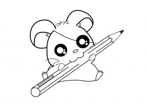 Cute Animal Printable Hamster Coloring Pages