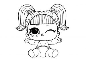 Cute Baby Doll LOL Coloring Pages