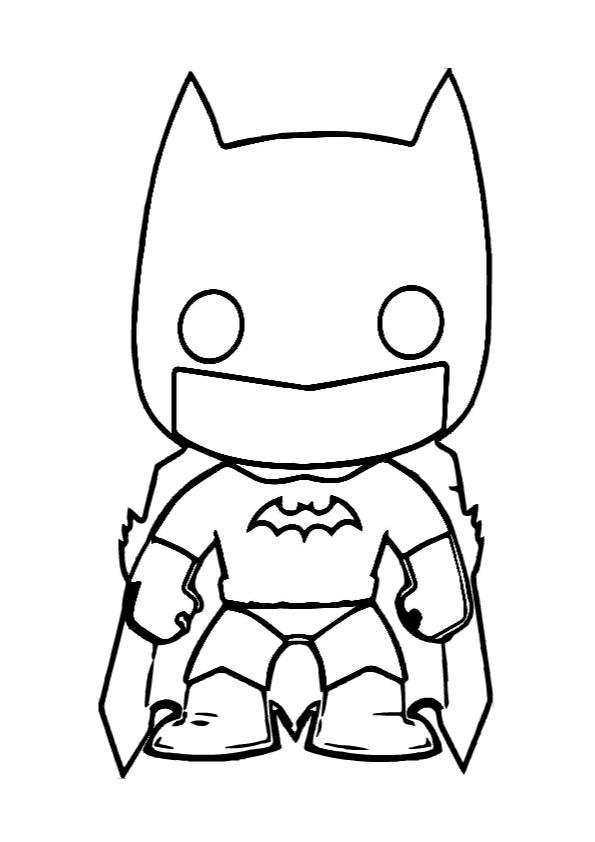 Cute Chibi Batman Coloring Pages