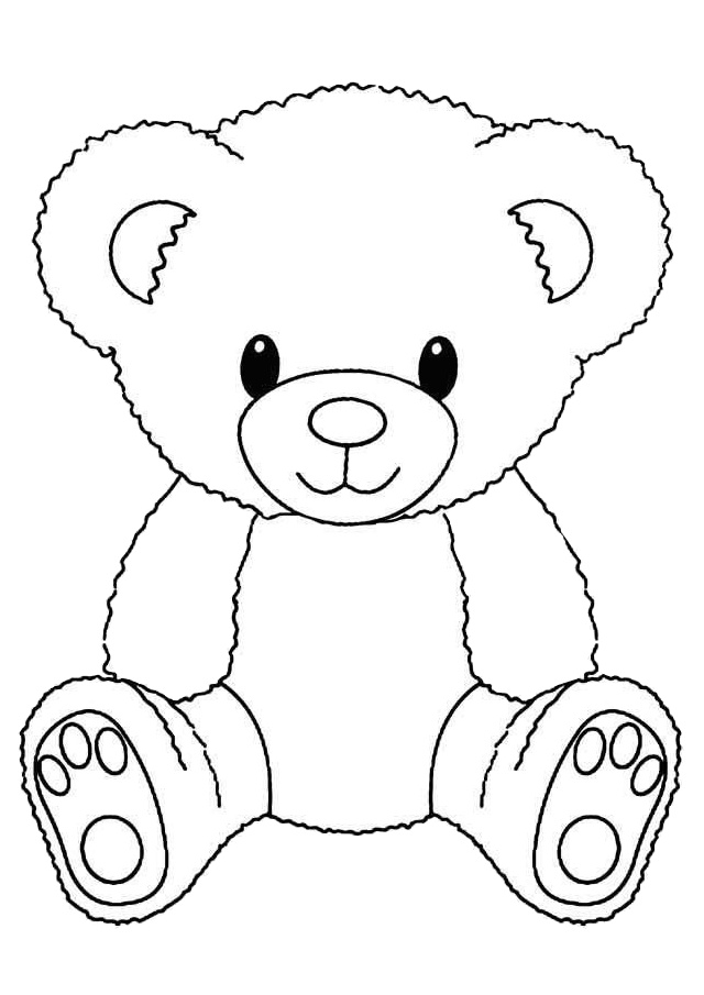 Cute Teddy Bear Coloring Pages - Print Color Craft