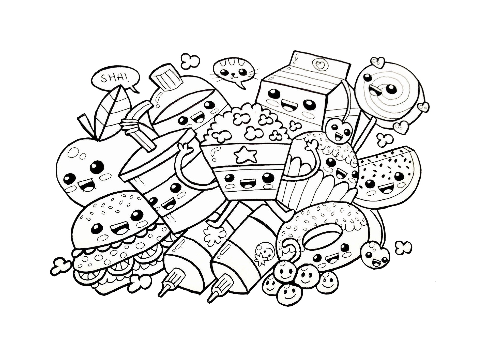 Fun Easyble Coloring Pages Free For Adults With Numbers Toddlers ... | 1350x1920
