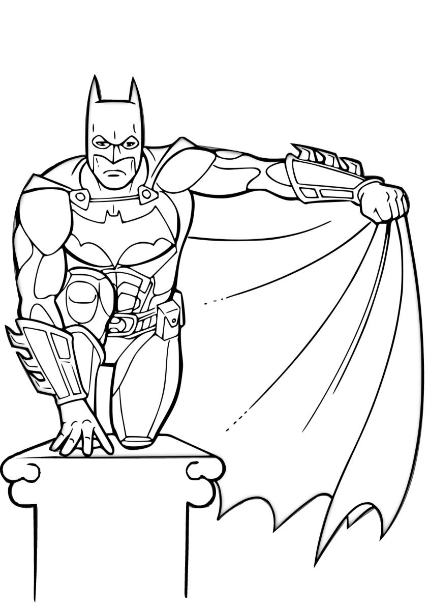 Easy Batman Coloring Pages Batman with His Cape
