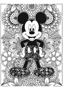 Mandala Mickey Mouse Coloring Pages for Adults