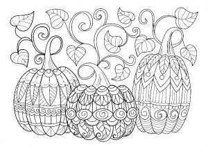 Free Printable Halloween Pumpkin Adult Coloring Pages