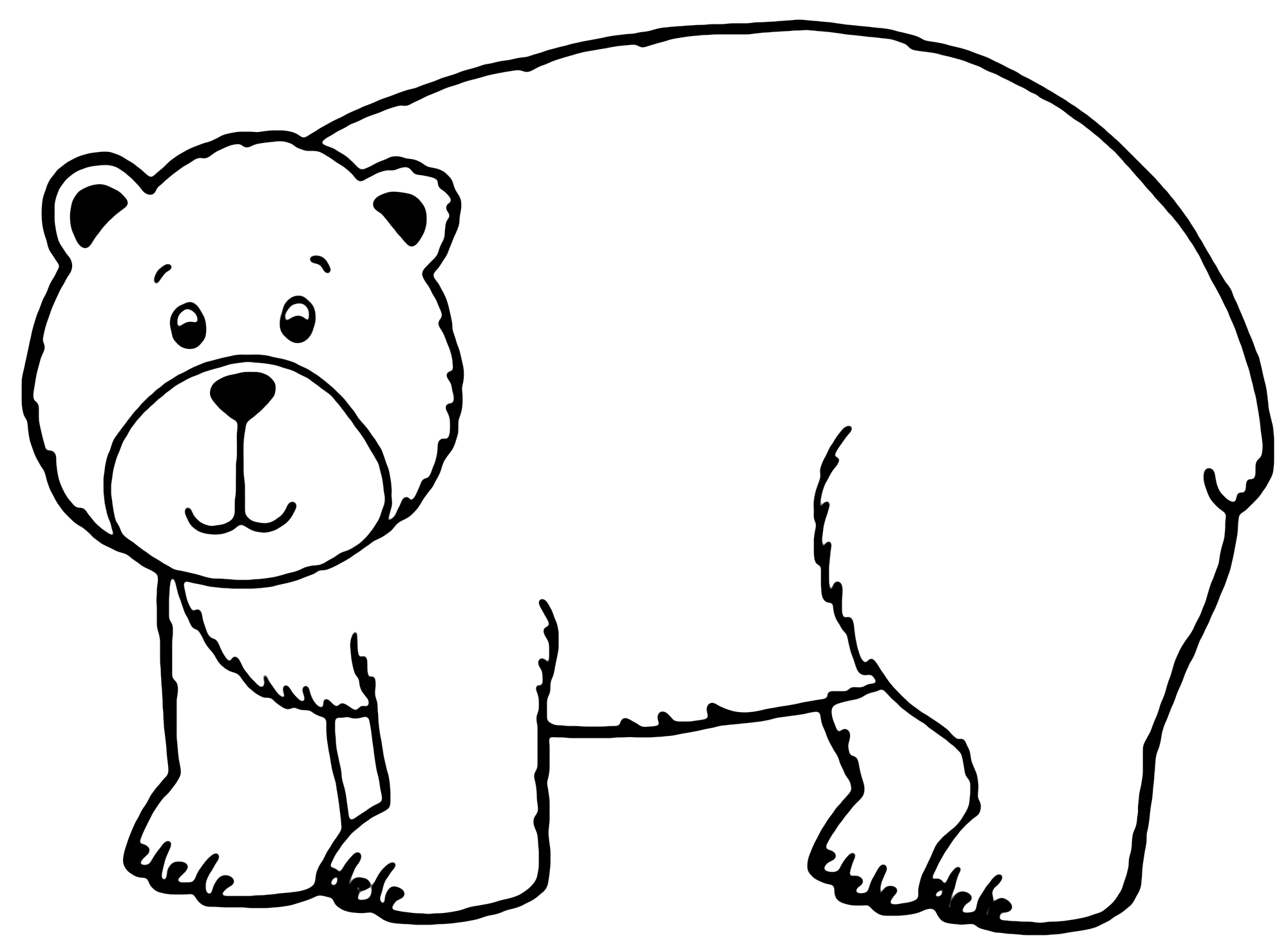 Happy Brown Bear Printable Coloring Pages