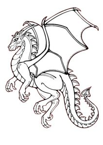 Heart-tail Printable Dragon Coloring Pages for Adults