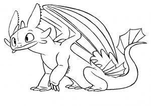 How to Train Your Dragon Toothless Night Fury Dragon Coloring Pages