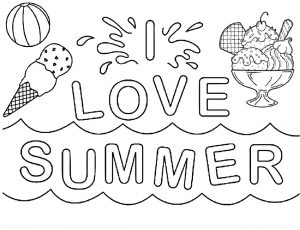 36 Summer & Beach Coloring Pages: Printable PDFs