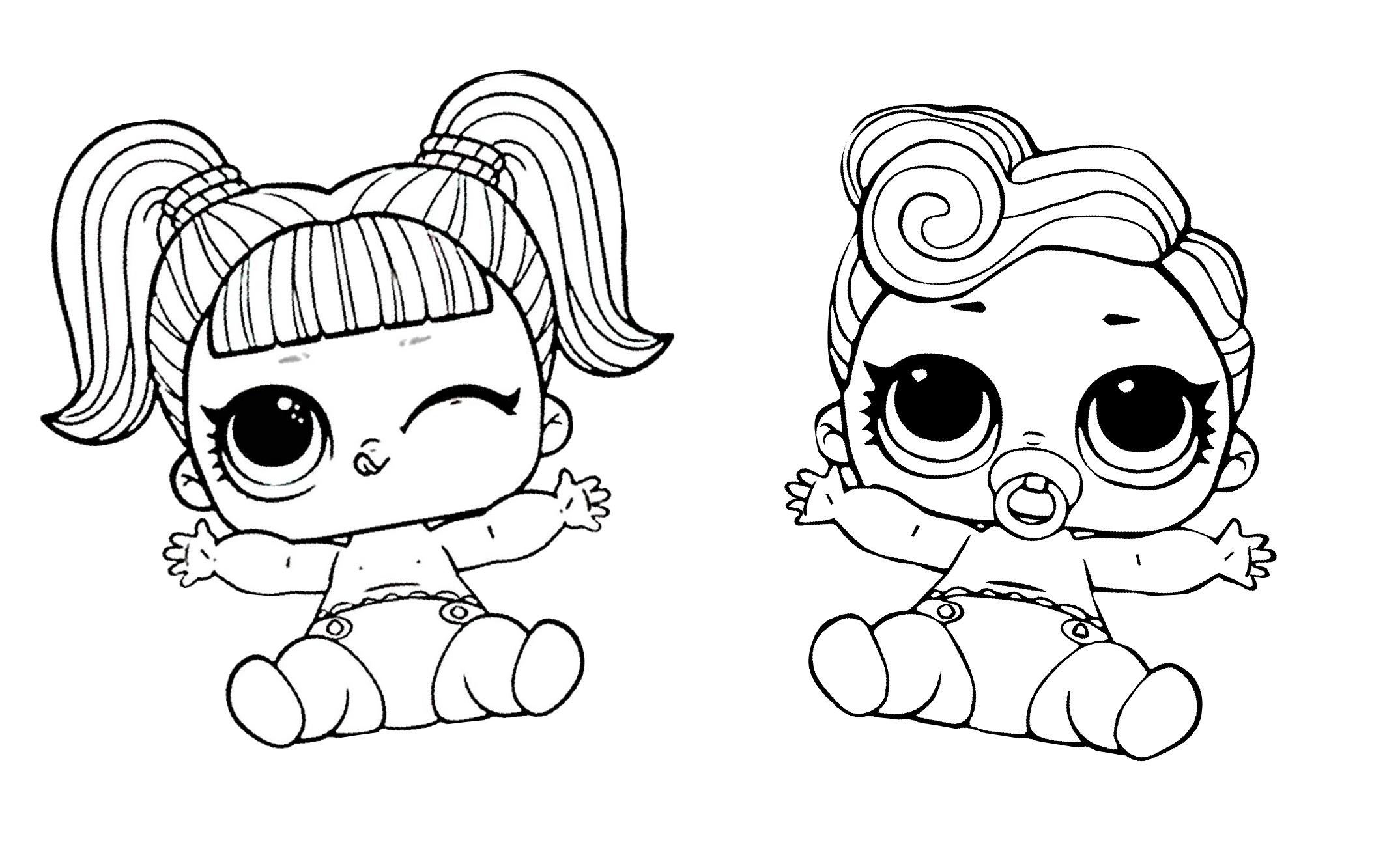 18 LOL Coloring Pages: Cute Printable Surprise Dolls - Print Color Craft