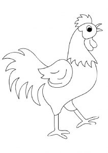 Learn to Draw Rooster Coloring Pages for Toddlers