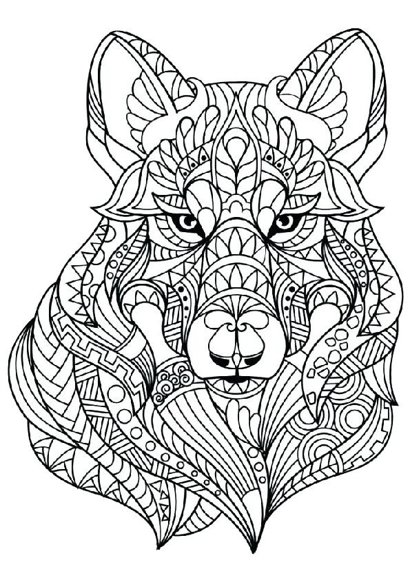 kleurplaat wolf mandala - 28 afbeeldingen