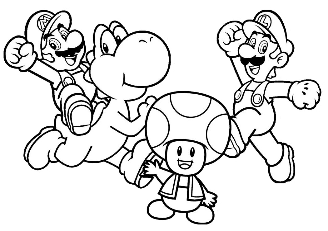 27 Mario Coloring Pages Easy Print And Color Pages Print Color