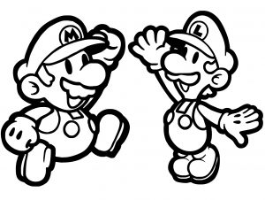 Mario and Luigi Easy Coloring Pages Small Yet Cute Looking Mario and Luigi