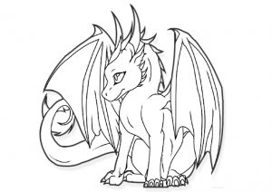 Mythical Creature Dragon Printable Coloring Pages