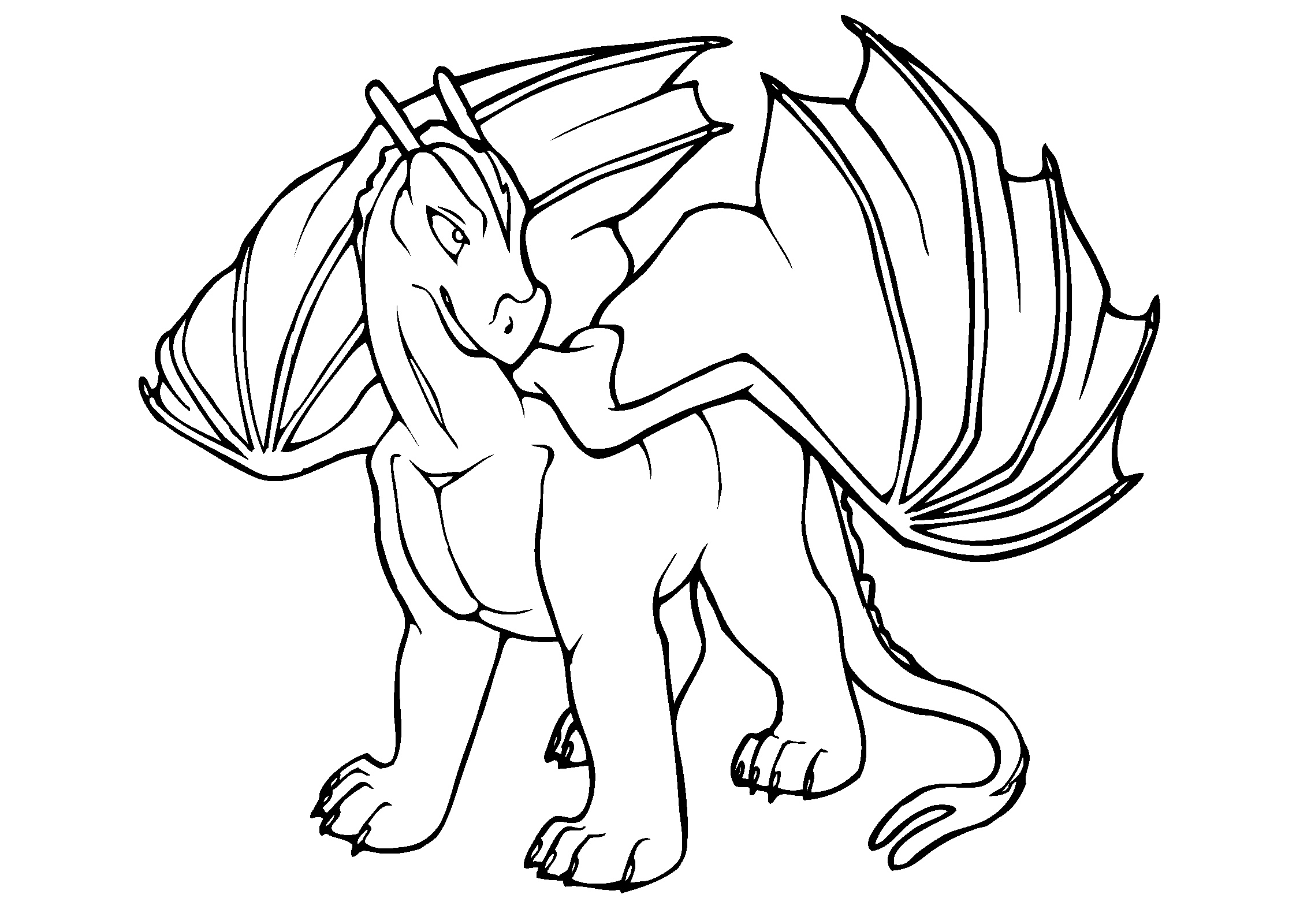 Mythical Dragon Coloring Pages for Adults