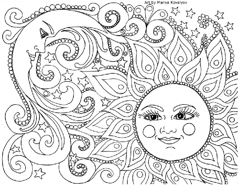 Nature coloring page for kids with rainbow, printable free ... | 595x764
