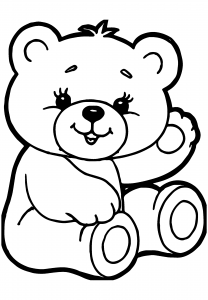 Printable Teddy Bear Coloring Page