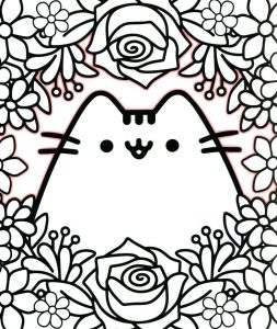 Pusheen Cute Cat Coloring Pages for Adults