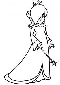 Rosalina Mario Coloring Pages Rosalina with a Magical Wand