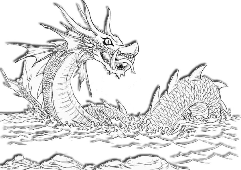 Sea Dragon Coloring Page