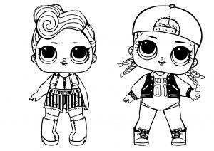 Surprise Dolls MC Swag and Rock CLub Funky qt LOL Coloring