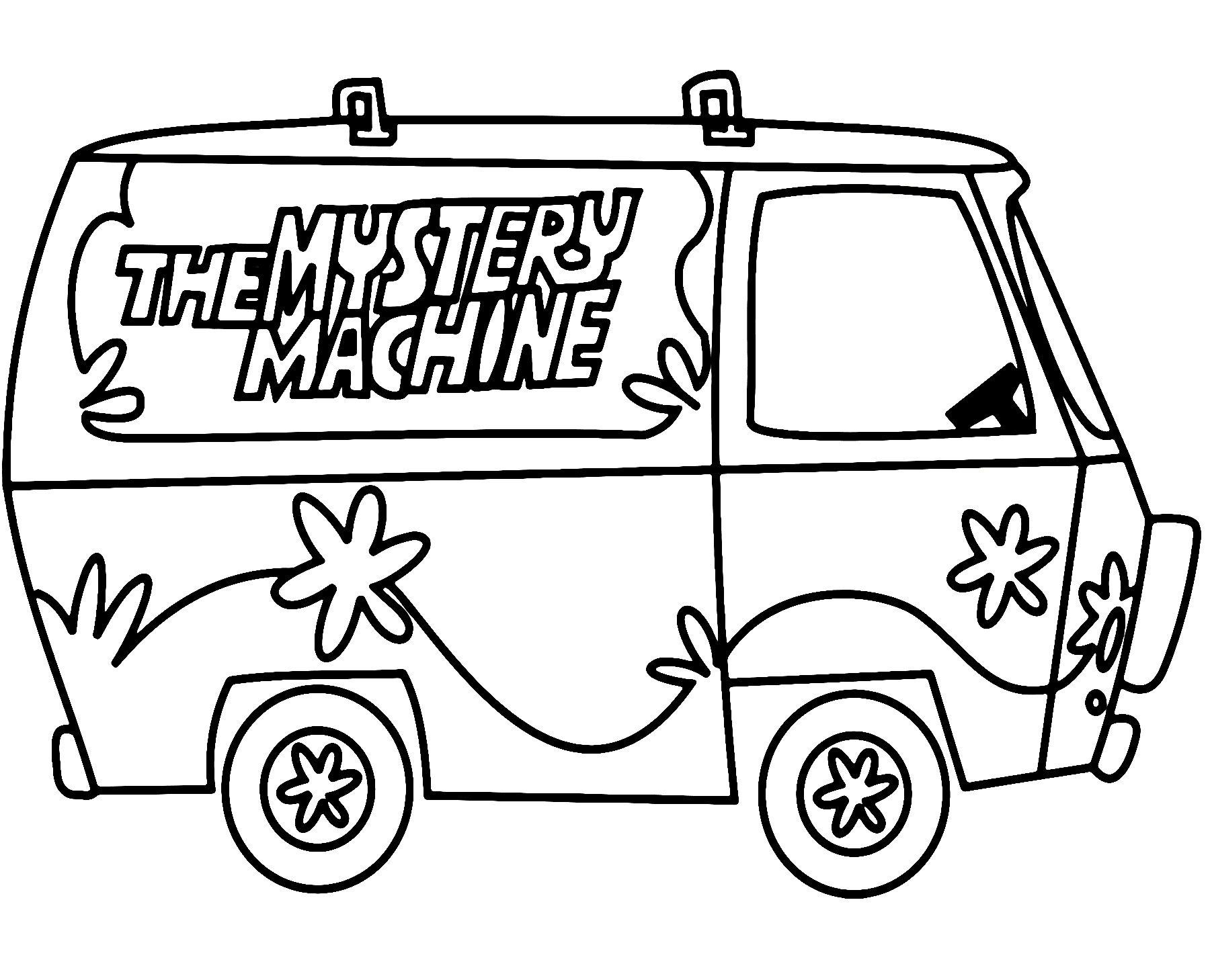 The Mystery Machine Scooby Doo Coloring Pages