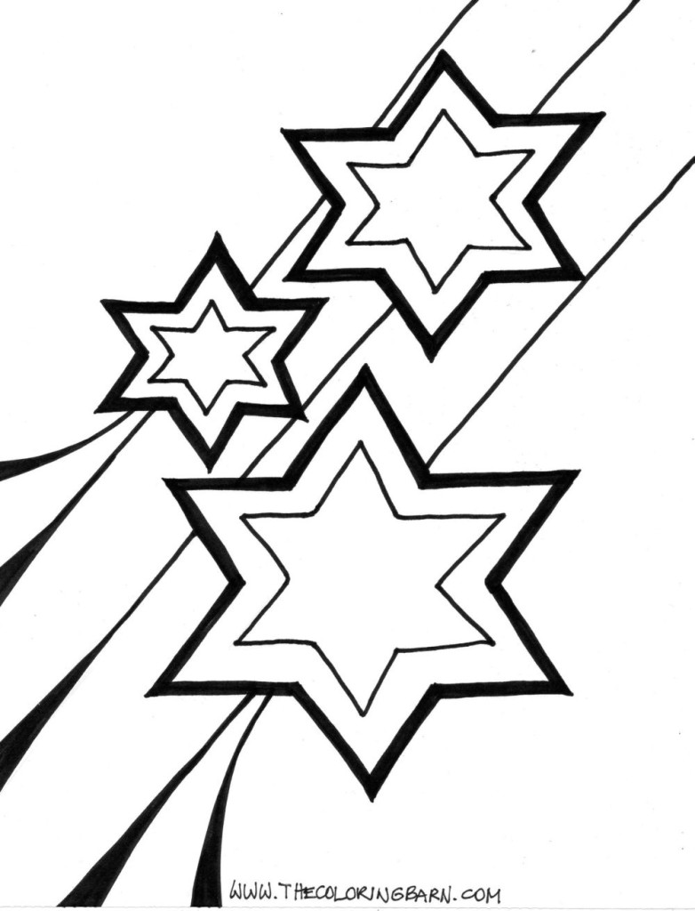 Star #15 (Nature) – Printable coloring pages | 1024x782