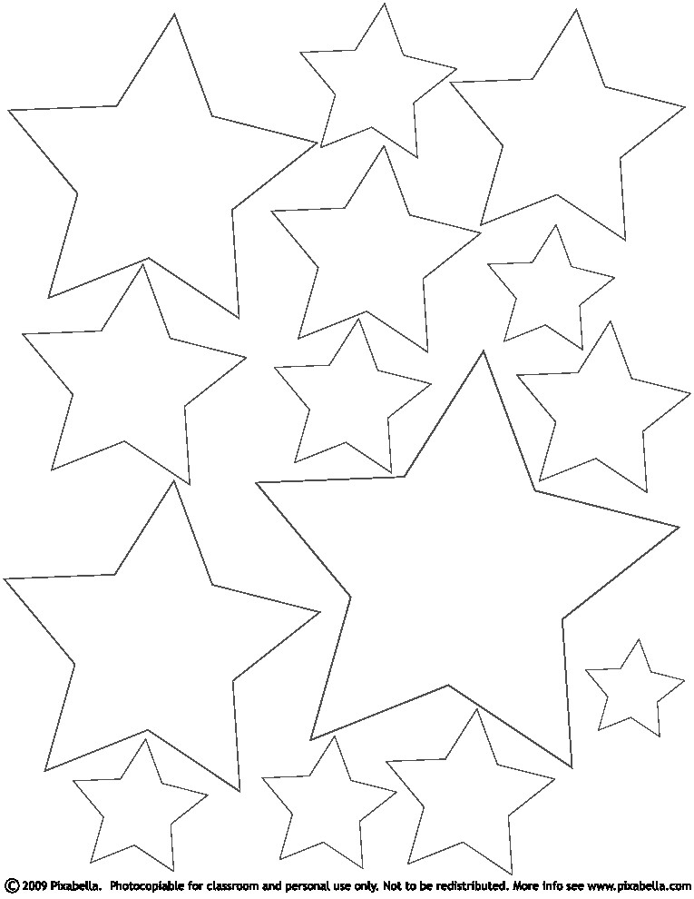 Printable Star Coloring Pages Coloring Coloring Pages