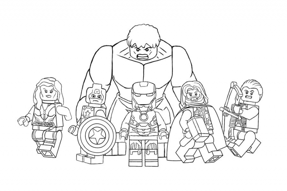 All Heroes Avengers Lego Characters Coloring Pages