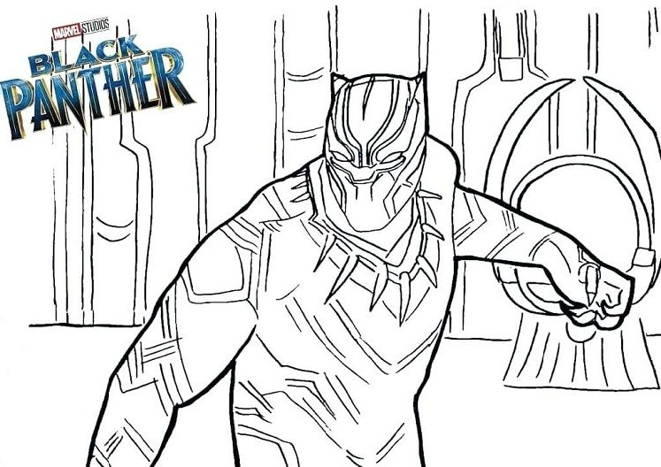 Black Panther Wakanda Marvel Comics Avengers Coloring Pages