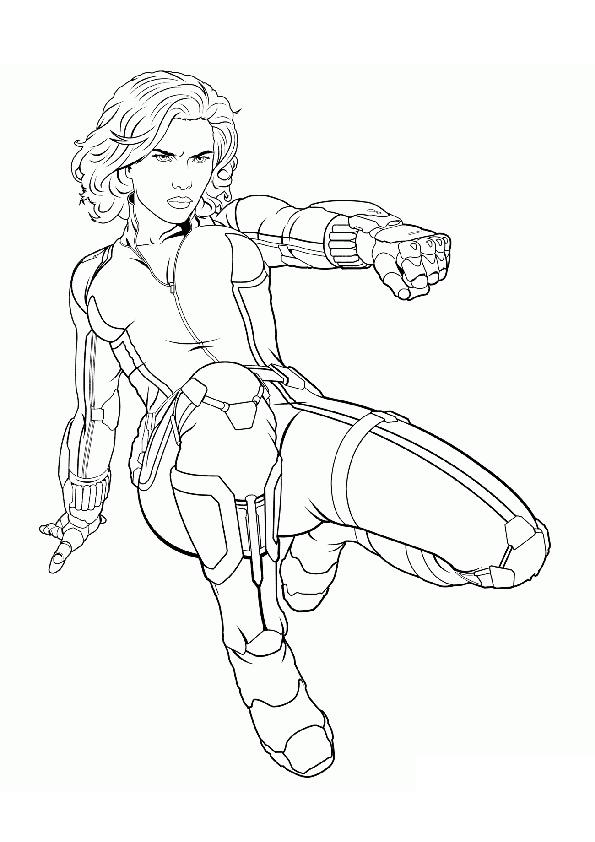 Black Widow Natasha Romanova Avengers Coloring Pages