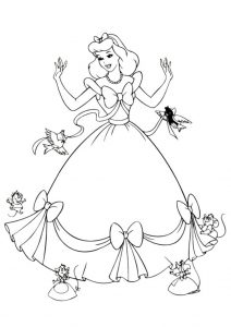 23 Disney Princess Cinderella Coloring Pages For Girls Print