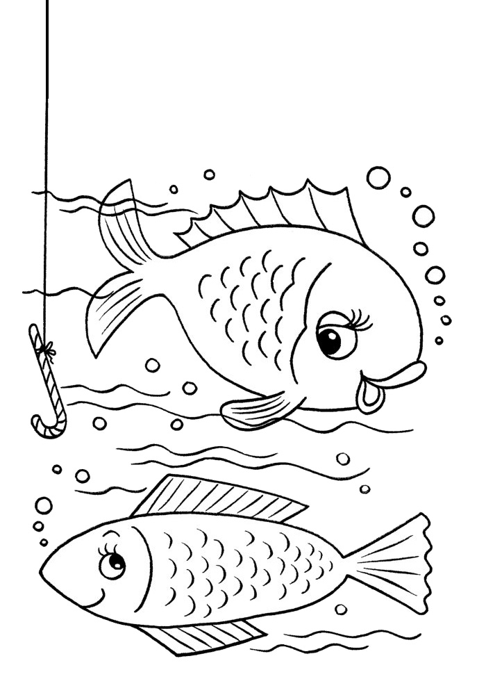 Cute Fish Printable Underwater Coloring Pages for Toddlers