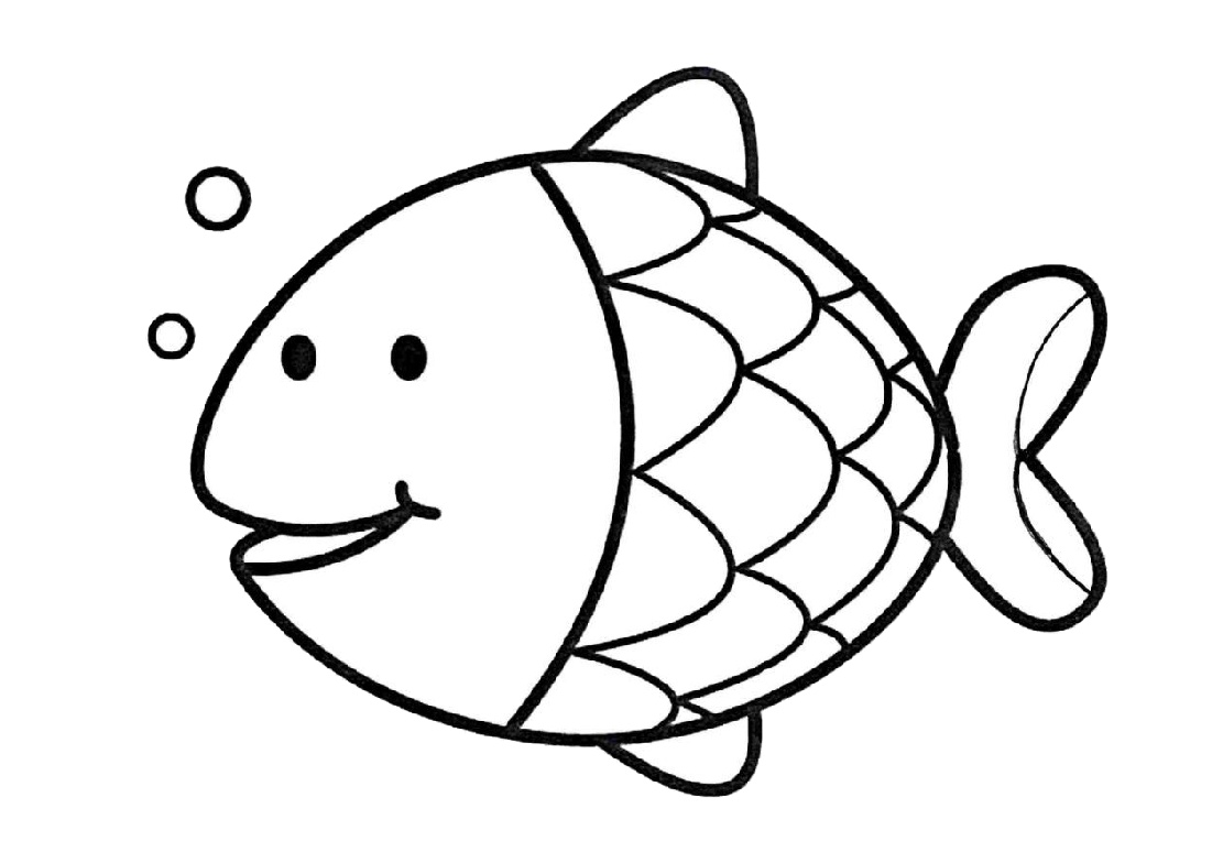 Easy Fish Coloring Pages for Kids - Print Color Craft