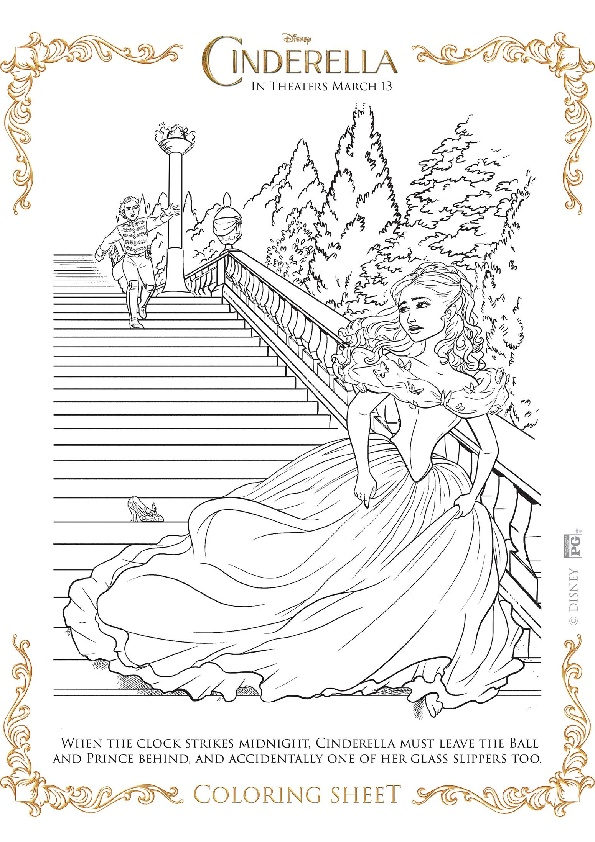 New Cinderella Movie Coloring Pages