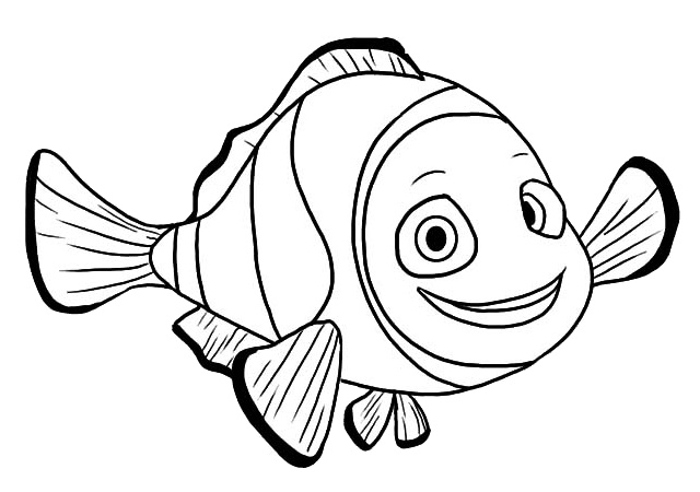 Pixar Finding Nemo Daddy Fish Coloring Pages Print Color