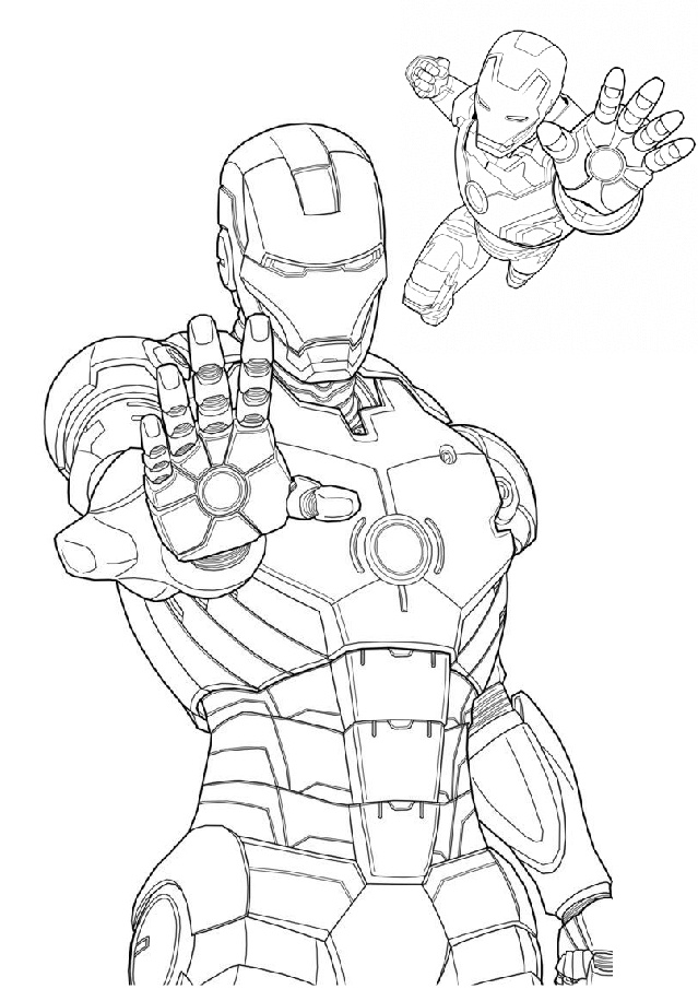 Printable Avengers Iron Man Coloring Pages