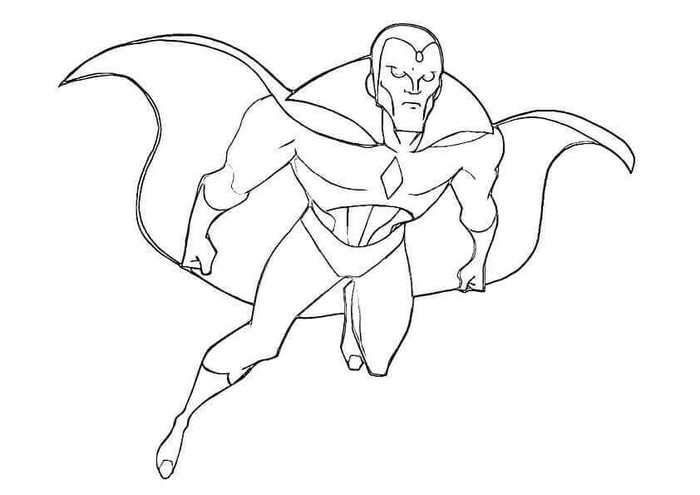 Vision Avengers Infinity War Endgame Easy Coloring Pages