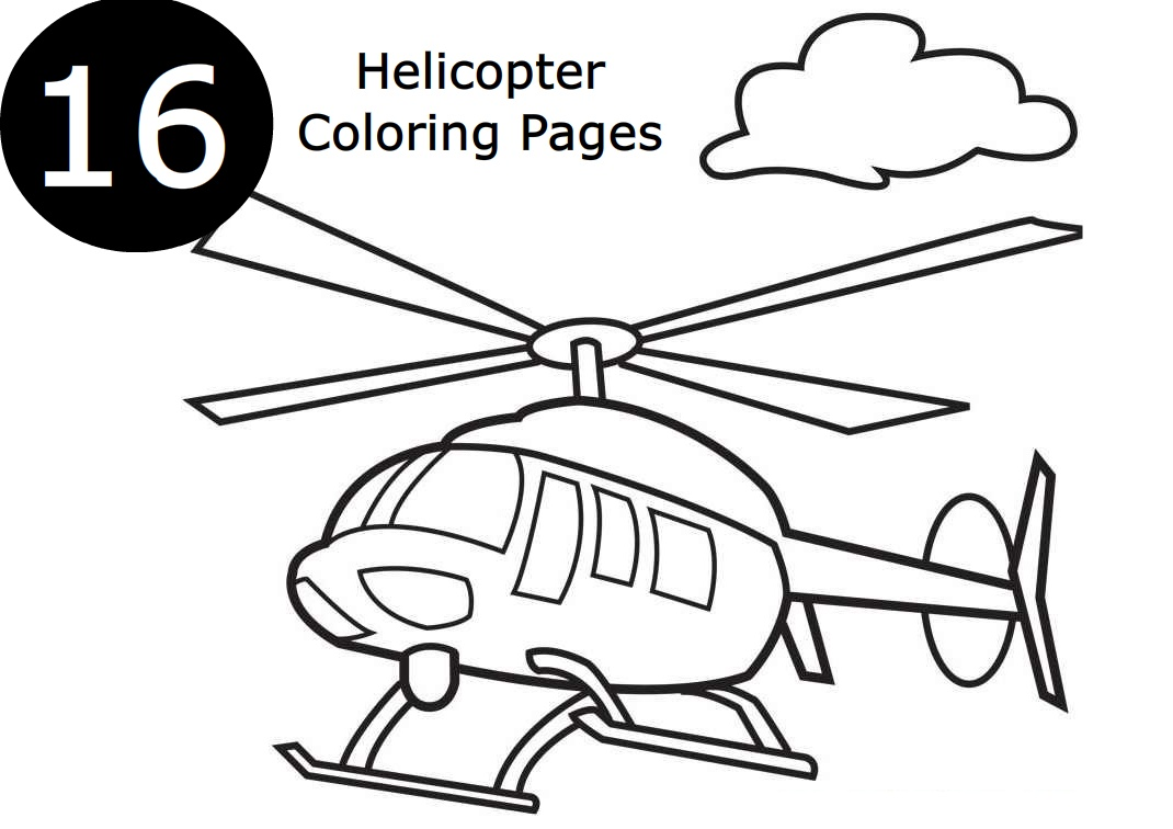 16 Helicopter Coloring Pages for Kids