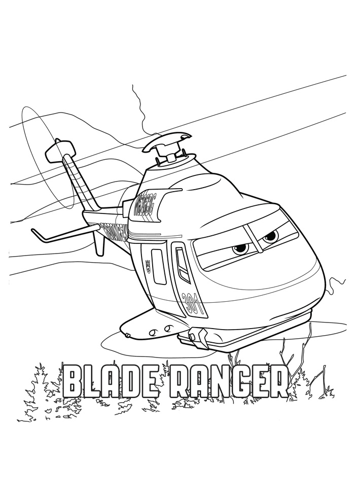 Blade Ranger Rescue Helicopter Coloring Pages