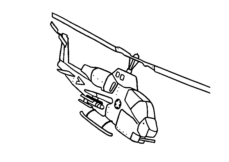 Chopper Bell AH-1G Cobra Helicopter Coloring Pages Free Printable Attack Copters