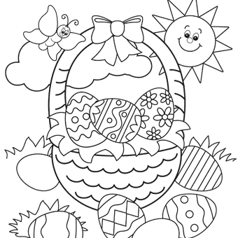 Easter coloring pages 6