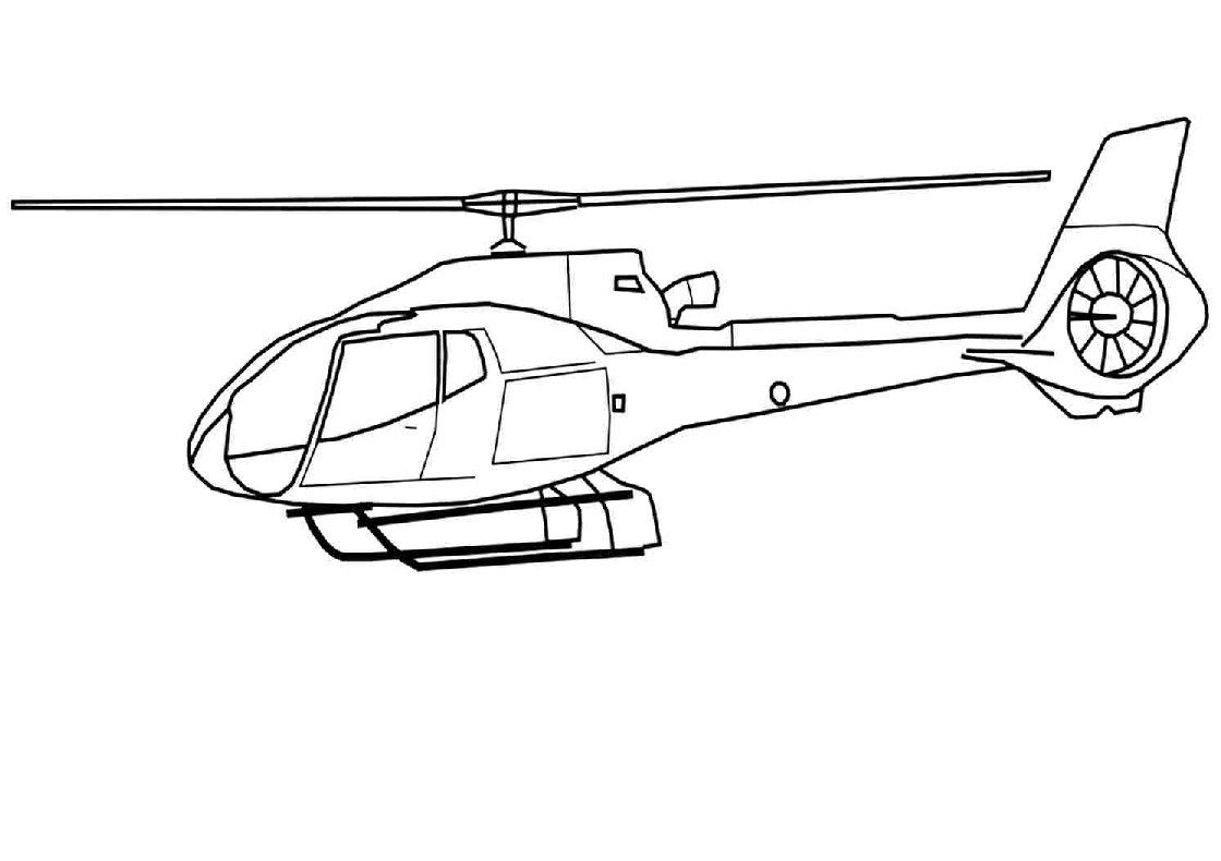 Free Printable Transport Helicopter Coloring Pages