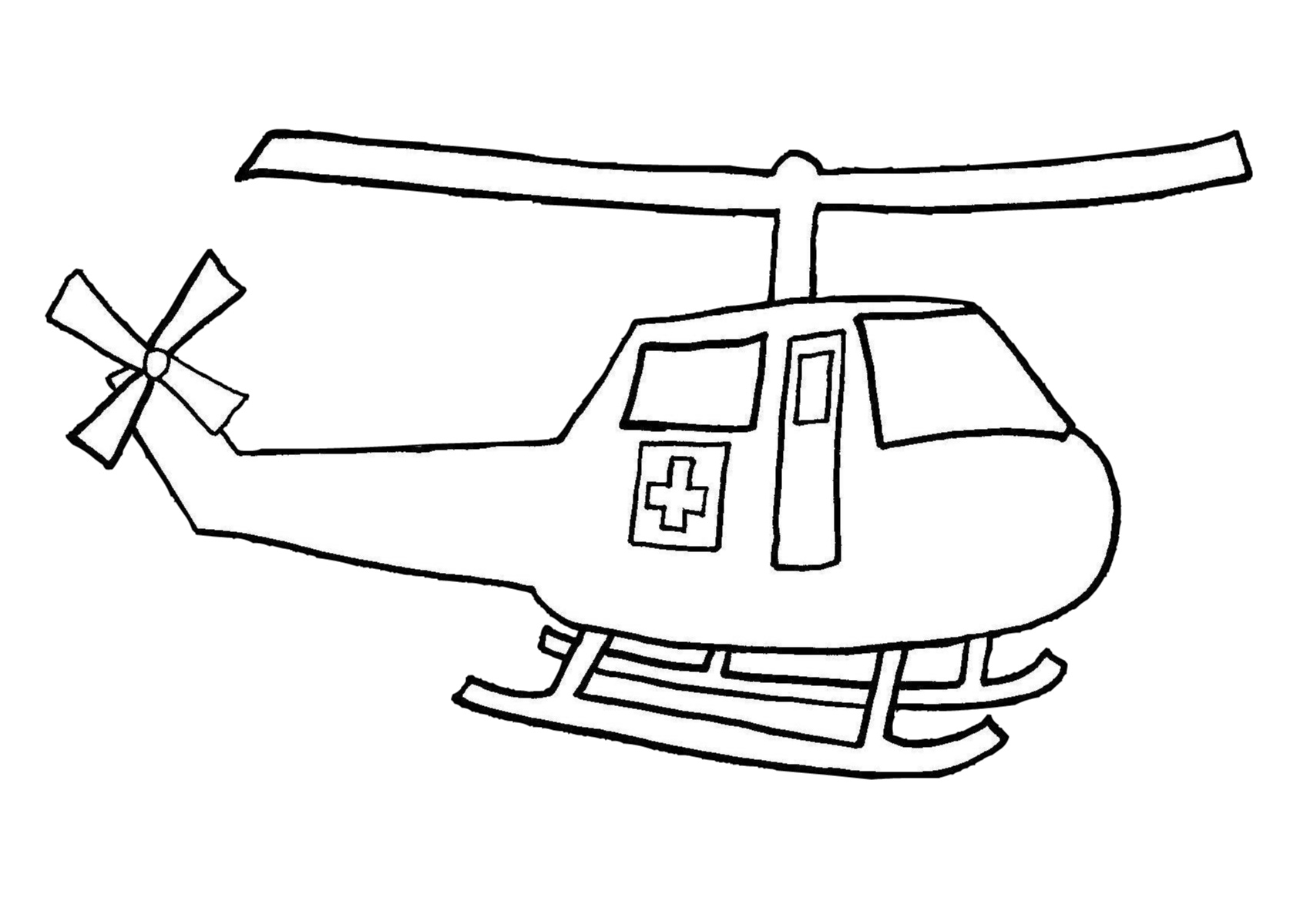 Helicopter Air Ambulance Coloring Pages