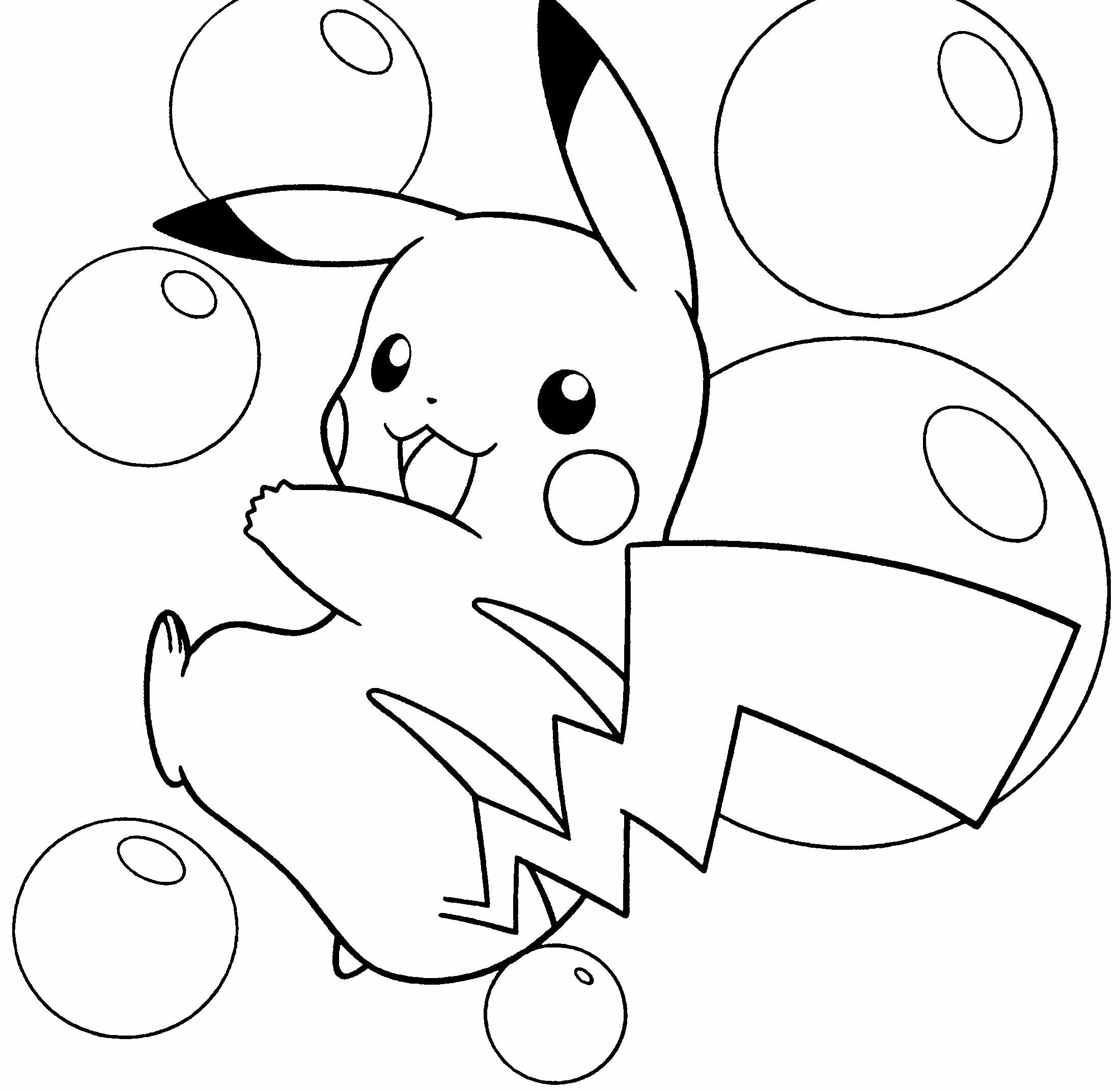 Pokemon happy birthday coloring pages - Pikachu Coloring Pages Pokemon Pikachu Coloring Pages 1