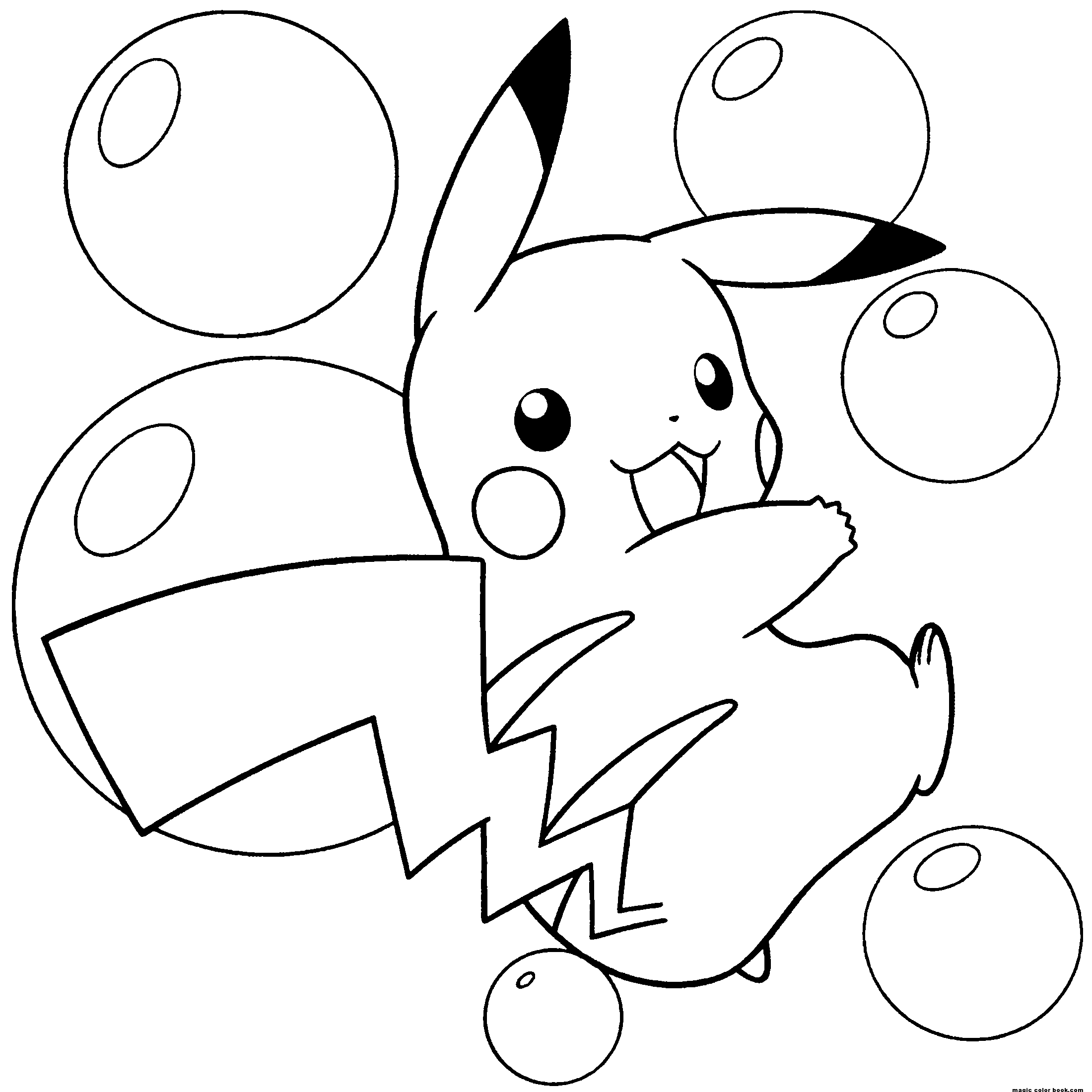 Coloring games of pokemon - Pokemon Pikachu Coloring Pages 1