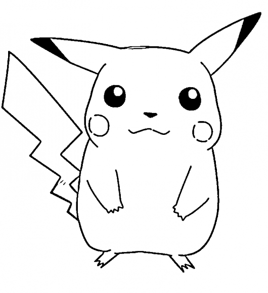 Pokemon pikachu coloring pages (2)