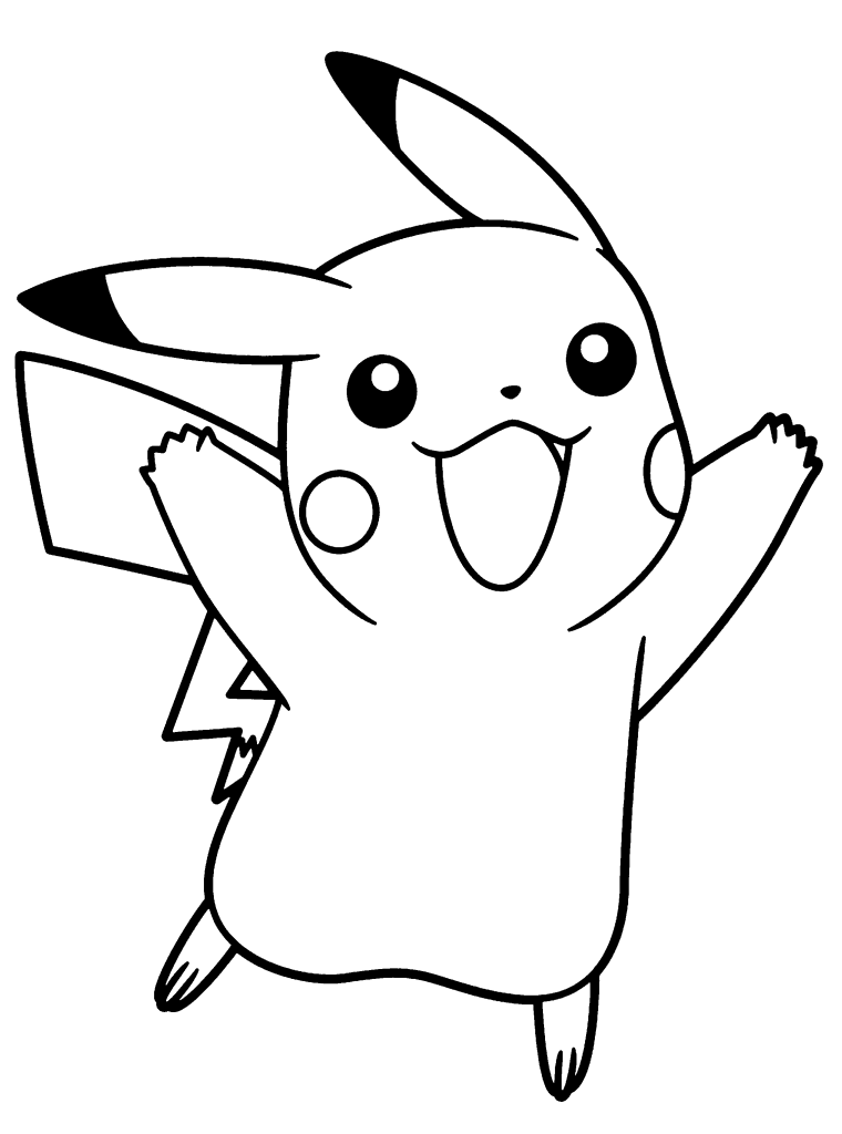 pokemon x coloring pages - pikachu coloring pages print color craft