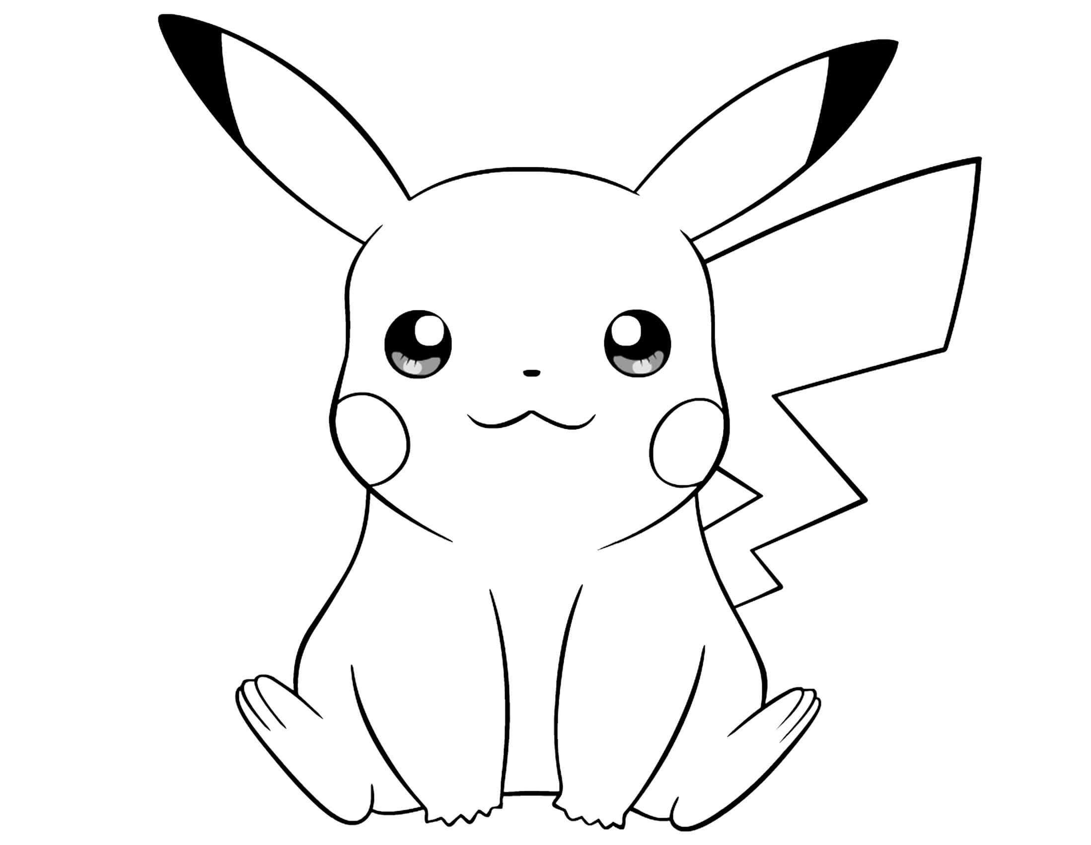 pikachu in action coloring pages - photo#20
